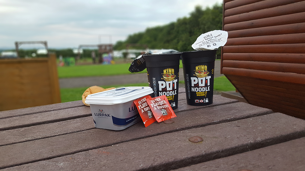 Obligatory Camping Bombay Bad Boy Pot Noodle